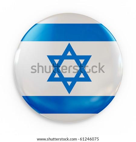 badge - Israel flag - stock photo