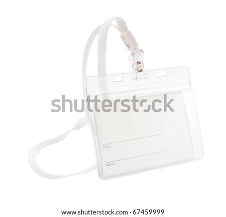badge on white background - stock photo