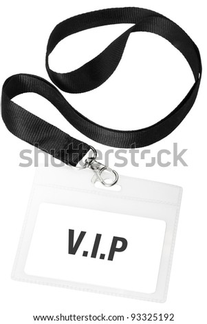 Badge or vip pass isolated on white background, clipping path included - stock photo