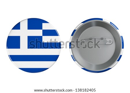 Badges with Greece flag on a white background - stock photo