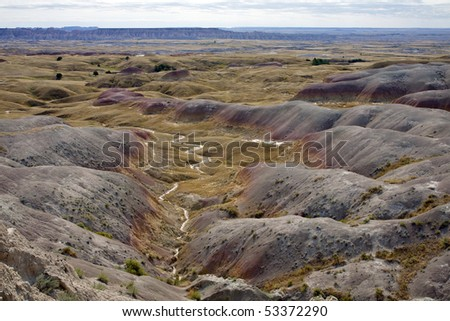 Badlands National Park, South Dakota. - stock photo