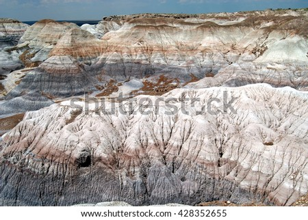 badlands of Painted Desert in the Four Corners area, United States - stock photo