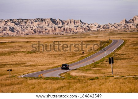 Badlands South Dakota - stock photo