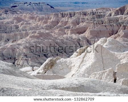 Badlands, South Dakota, United States - stock photo