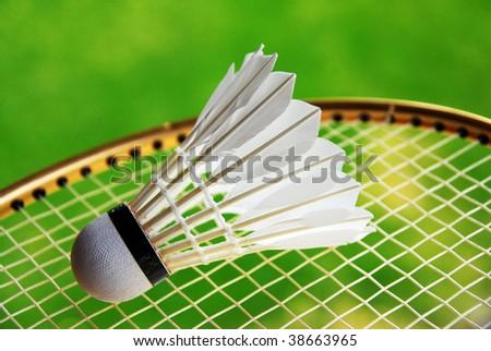 badminton - stock photo