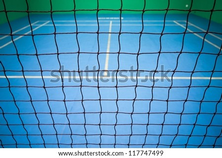 badminton court - stock photo