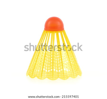 Badminton isolated on white background