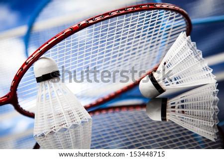 Badminton shuttlecock - stock photo