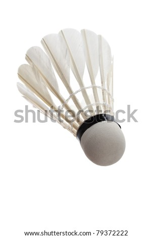 Badminton with white background - stock photo