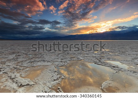 Badwater basin in Death Valley, California, USA. - stock photo
