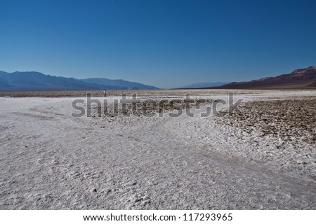 Badwater in Death Valley - stock photo