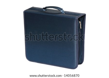Bag for digital disks isolated on a white background
