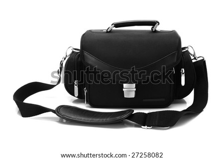 Bag for the camera, isolated on white
