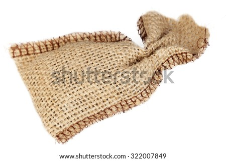 Bag from a canvas it is isolated on a white background