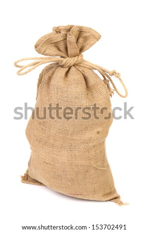 Bag from a sacking isolated