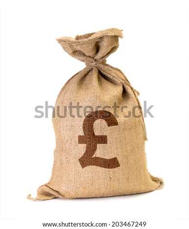 Bag from Pound isolated on a white background. - stock photo