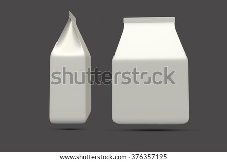 bag medium package on gray background - stock photo