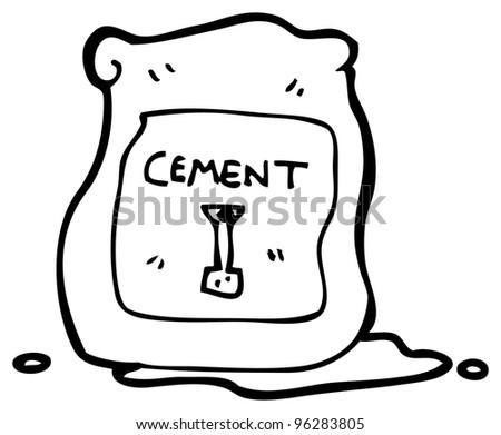 Cement Bag Cartoon Stock Vector 54785035 - Shutterstock