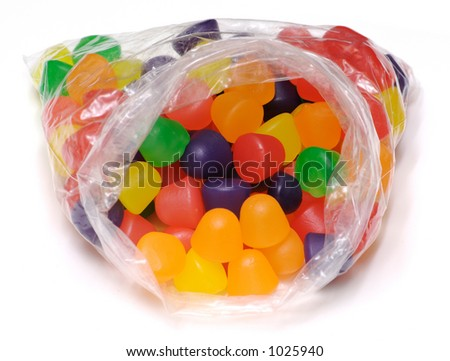 Bag of Gum Drops - Isolated - stock photo
