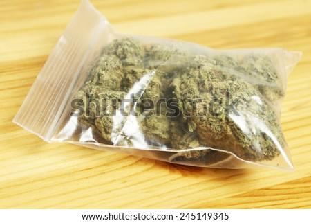 Bag of Pot, Marijuana  - stock photo