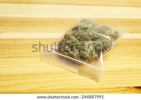 Bag of Weed, Marijuana  - stock photo
