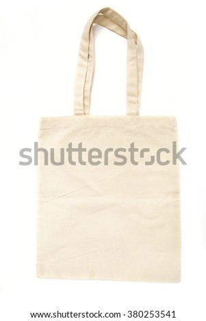 bag on the white background - stock photo