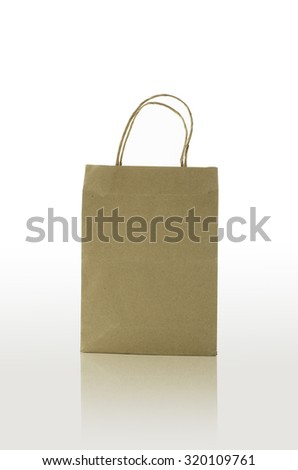 bag paper on white background