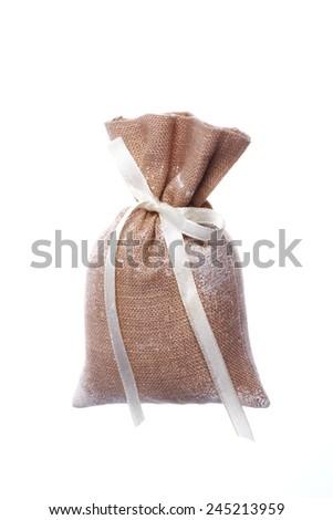 bag salt - stock photo