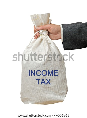 Bag with income tax