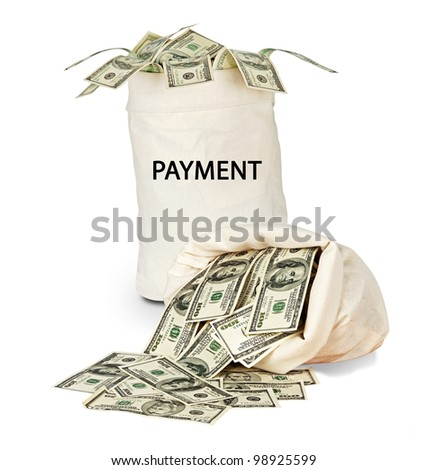 Bag with payment - stock photo