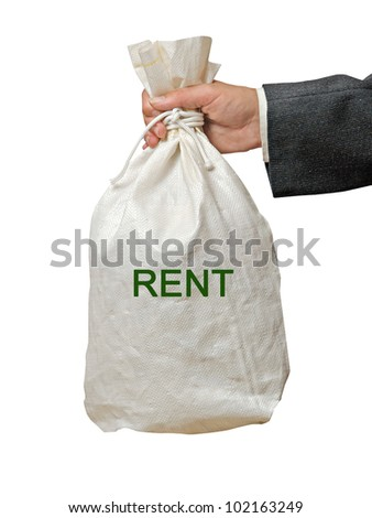 Bag with rent - stock photo