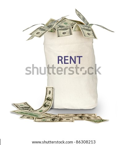 Bag with rent