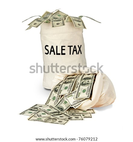 Bag with sale tax