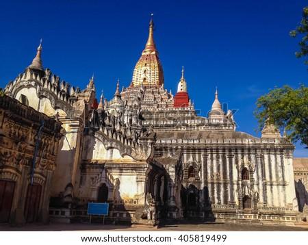 BAGAN, MYANMAR - MAY 28, 2014 : Ananda Phaya Temple in Bagan, Myanmar (Burma) - stock photo