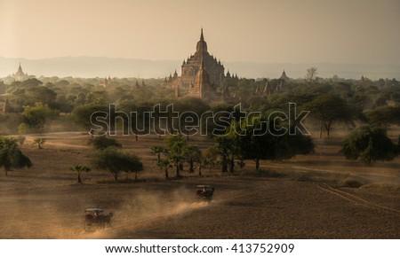 Bagan, Myanmar temples  - stock photo