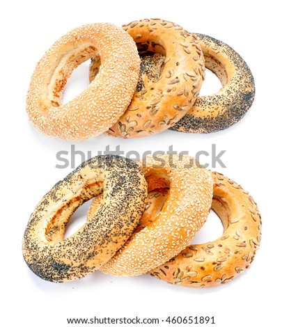 Bagel isolated on white