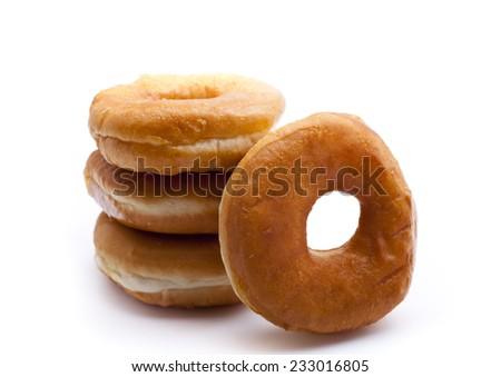 bagels isolated on white background. - stock photo