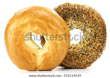 bagels isolated on white background