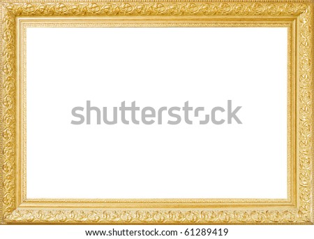 Baget old frame isolated on white - stock photo