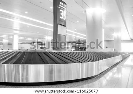 baggage claim - stock photo