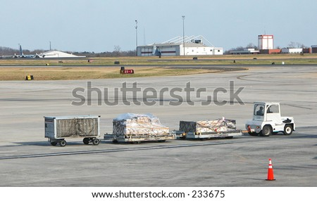Baggage Truck - stock photo