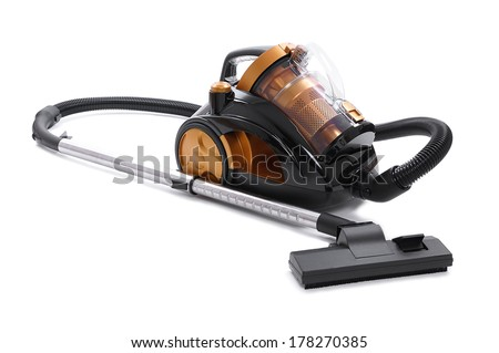 bagless cyclone vacuum cleaner - stock photo
