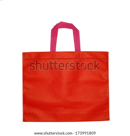 bags isolated on white pink and red bags isolated on white  - stock photo