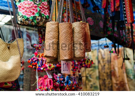 Bags of souvenirs from Thailand - stock photo