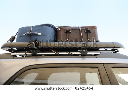 Bags on top of car for traveling