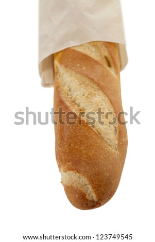 Baguette Bread in a vertical image