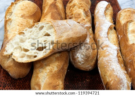 Baguette, French bread - stock photo