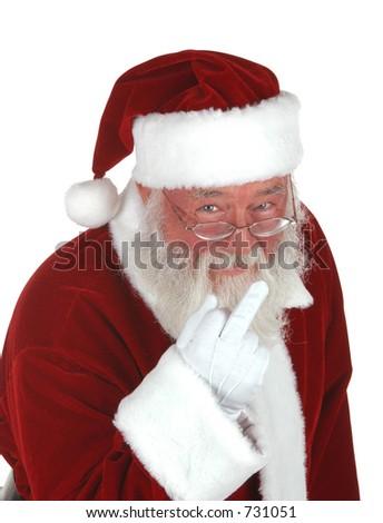 Bah Humbug Santa - stock photo