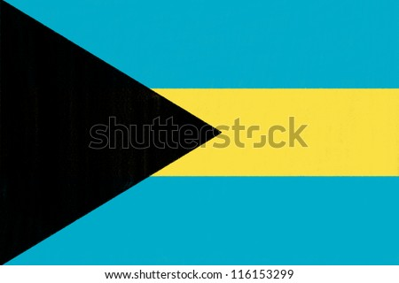 Bahamas flag drawing by pastel on charcoal paper - stock photo