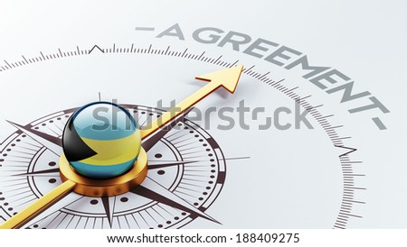 Bahamas  High Resolution Agreement Concept - stock photo